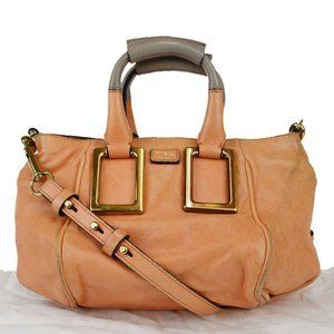 Chloé Ethel 2WAY Leather Handbag Orange